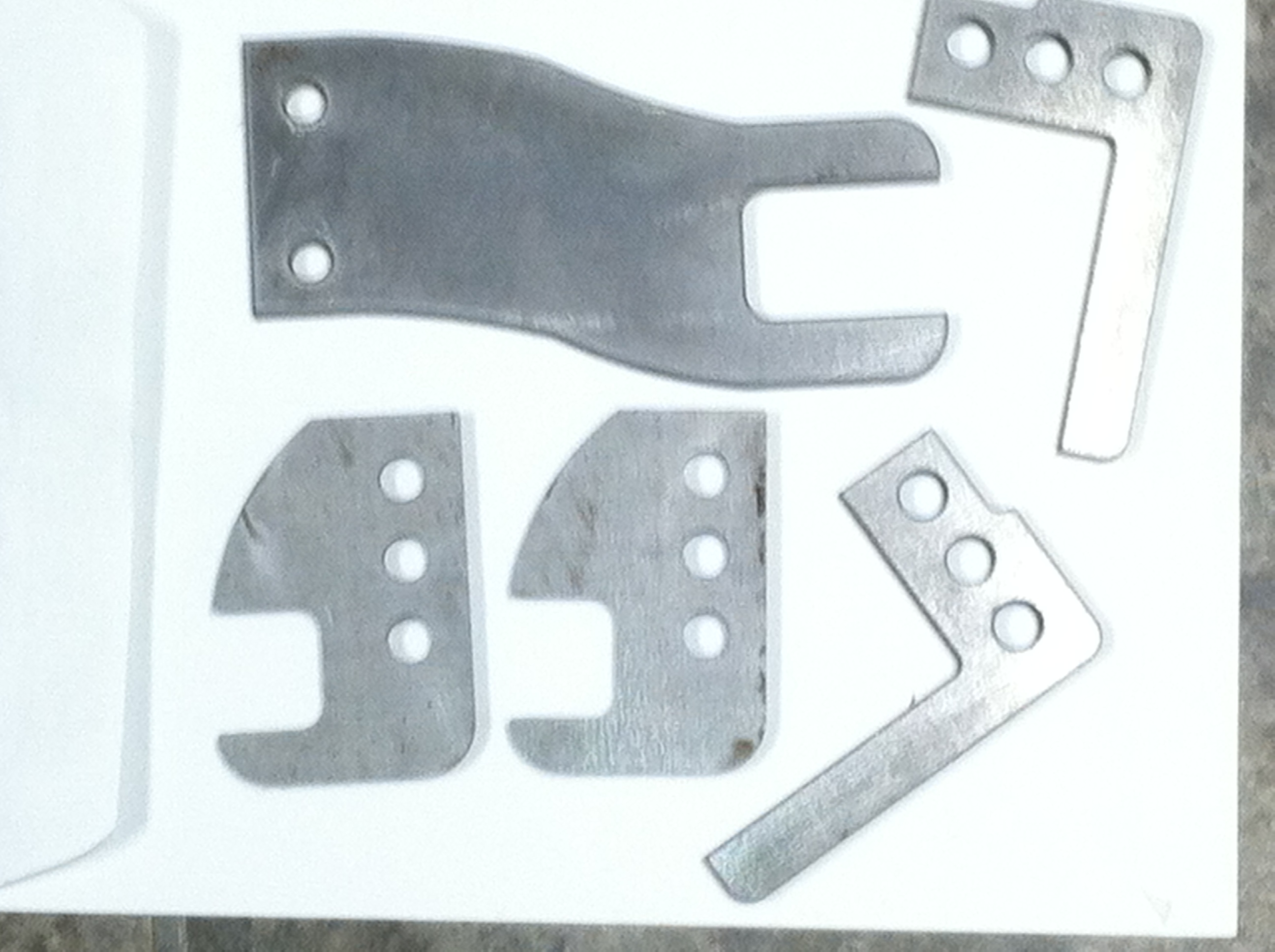 Silver custom machine parts