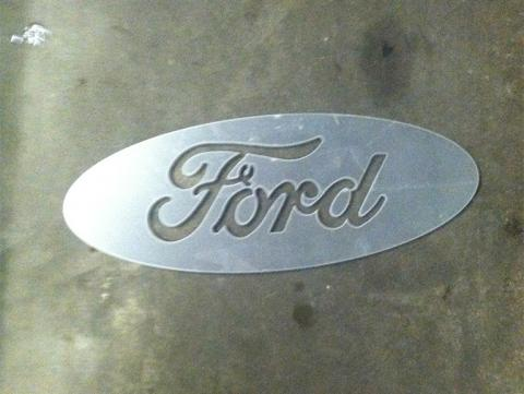 Ford Emblem cut out of metal